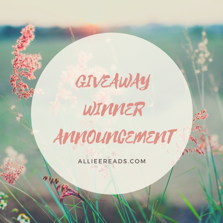 GIVEAWAY WINNER ANNOUNCEMENT!!!!!!