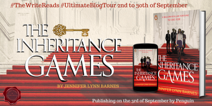 BLOG TOUR REVIEW of THE INHERITANCE GAMES by Jennifer Lynn Barnes #TheWriteReads #UltimateBlogTour